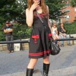 goth school girl