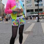 trans girl in windbreaker