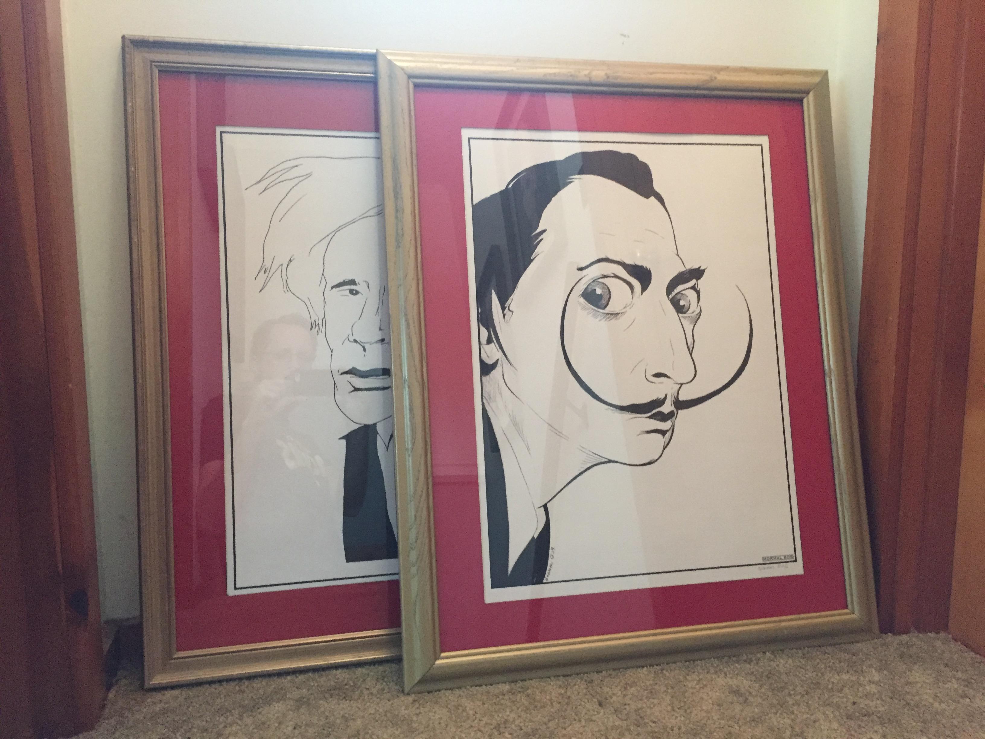 Warhol & Dali framed