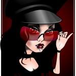 goth girl art